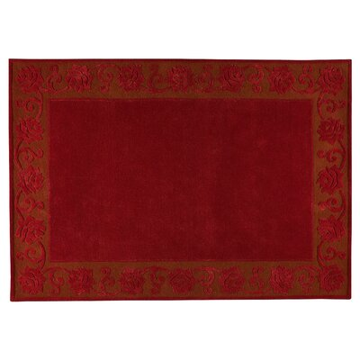 Eyer Red Area Rug Rug Size: 83 x 116