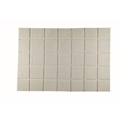 Manhattan White Area Rug Rug Size: 46 x 66