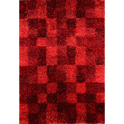 Evia Wine Shag Area Rug Rug Size: 46 x 66
