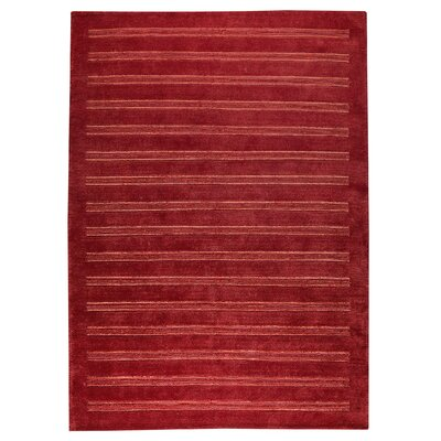 Chicago Red Rug Rug Size: 9 x 12