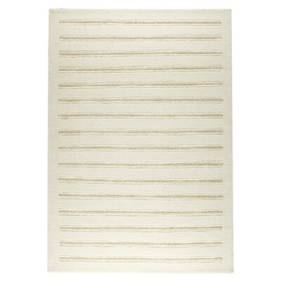 Chicago White Rug Rug Size: 9 x 12