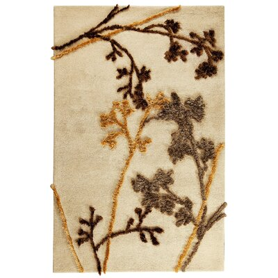 Sprout Beige Area Rug Rug Size: Rectangle 52 x 76