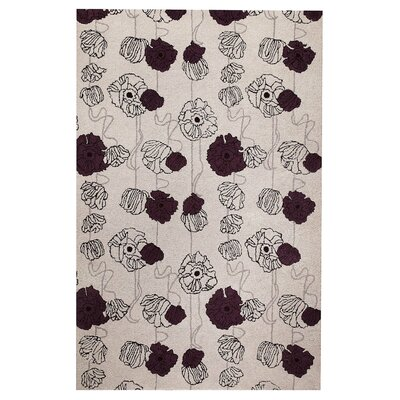 Billings Grey/Mauve Area Rug Rug Size: 52 x 76