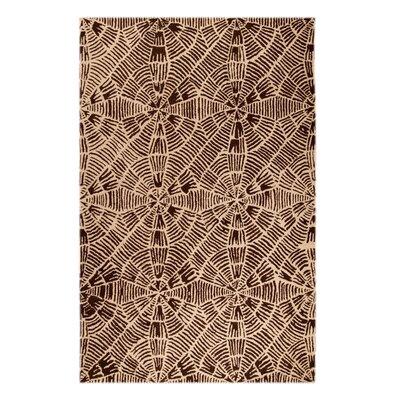Maze Beige/Brown Rug Rug Size: 52 x 76
