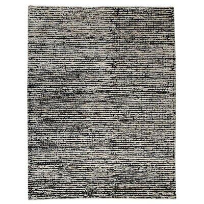 Husk White/Black Area Rug Rug Size: 83 x 116