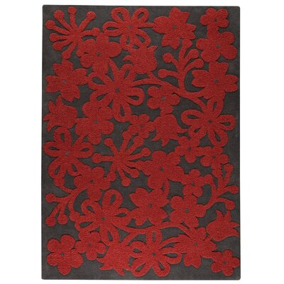 Sherron Dark Grey Area Rug Rug Size: 56 x 710