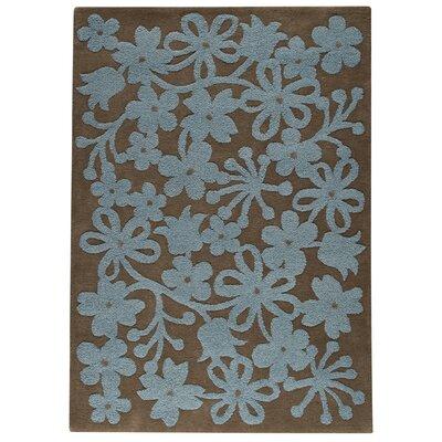 Sherron Grey/Turquoise Area Rug Rug Size: 83 x 116