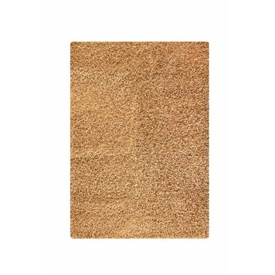 Hirsute Beige Solid Area Rug Rug Size: 52 x 76