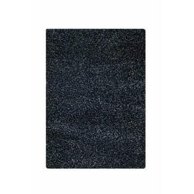 Hirsute Black Solid Area Rug Rug Size: 52 x 76