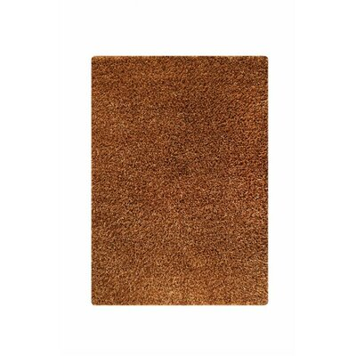 Hirsute Gold Solid Area Rug Rug Size: 52 x 76