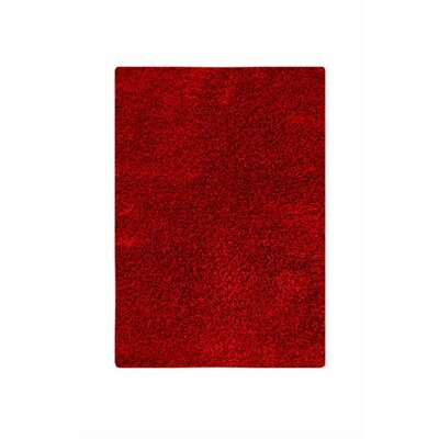 Hirsute Red Solid Area Rug Rug Size: 52 x 76