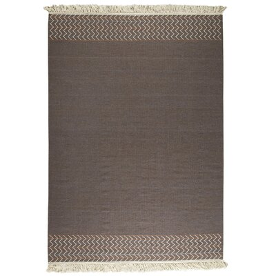 Tashia  Kilim Brown Area Rug Rug Size: 83 x 116