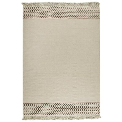 Tashia Kilim Ivory Area Rug Rug Size: Rectangle 56 x 710