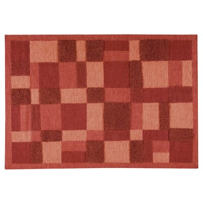 Sierra  Red Area Rug Rug Size: 66 x 99