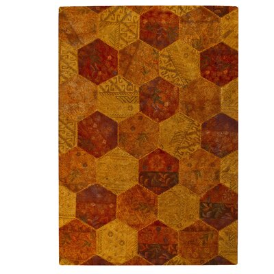 Honey Comb Siena Orange Area Rug Rug Size: 52 x 76