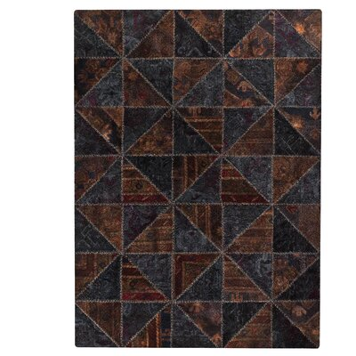 Tile Viviana Black / Brown Area Rug Rug Size: 52 x 76