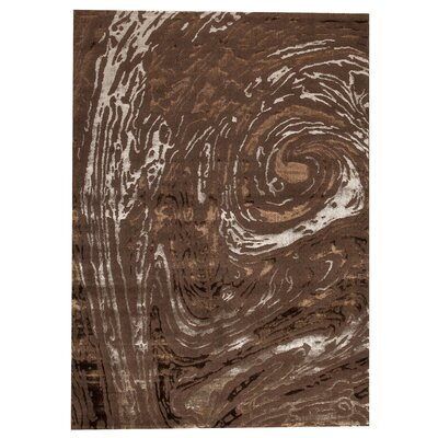 Bark Brown Area Rug Rug Size: 52 x 76