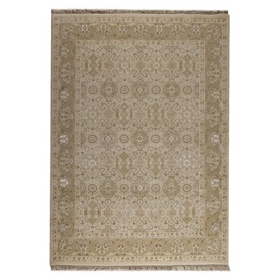 Gudalur Cream Floral  Area Rug Rug Size: 52 x 76