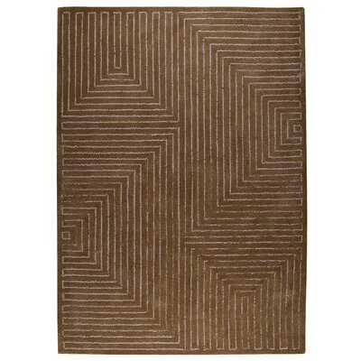 Johna Grey/Brown Area Rug Rug Size: 83 x 116