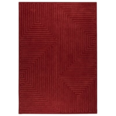 Johna Red Area Rug Rug Size: 83 x 116