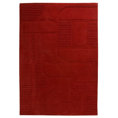 Rigby Tomato Area Rug Rug Size: 66 x 99