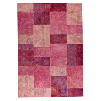 Satinath Light Pink Area Rug Rug Size: 52 x 76