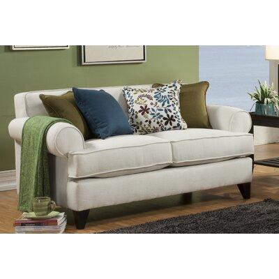 Nevis Loveseat Upholstery: Ivory