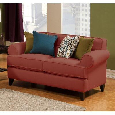Nevis Loveseat Upholstery: Red Wine
