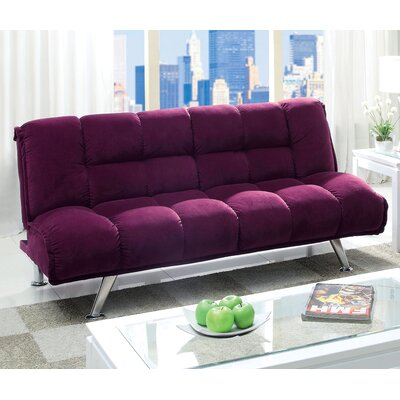 Oberon Corduroy Sleeper Sofa Upholstery: Purple