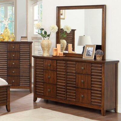 Tora 6 Drawer Dresser with Mirror