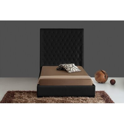 Hornick Upholstered Platform Bed Color: Black, Size: Queen