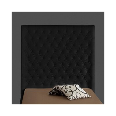 Penthouse Upholstered Panel Headboard Upholstery: Black, Size: King