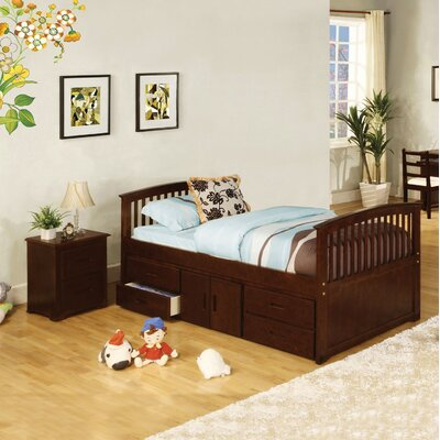 Clemson Twin Slat Bed with Storage