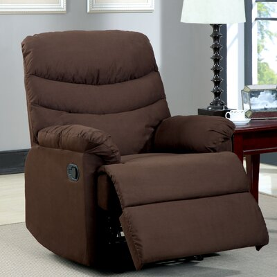 Singclaire Chaise Recliner Upholstery: Dark Brown