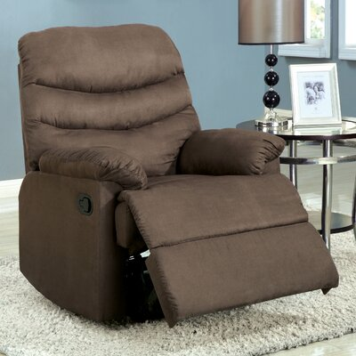 Singclaire Manual Recliner Upholstery: Coffee Brown