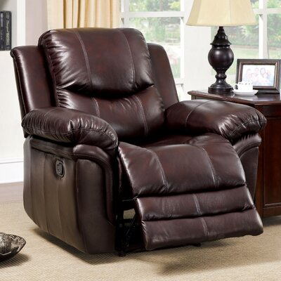 Veigar Leather-Like Recliner