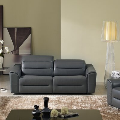 8054-002-LP1140 KUI6981 Hokku Designs Denzel Leather Loveseat