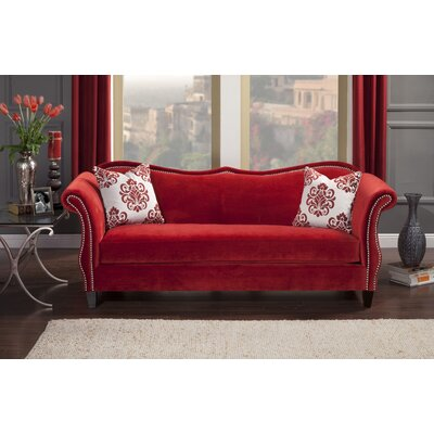 Emillio Premium Upholstered Sofa Upholstery: Ruby Red