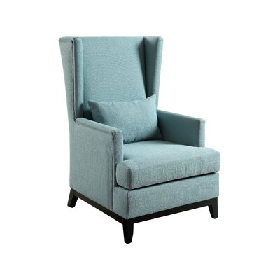 Amory Wingback Arm Chair Color: Blue