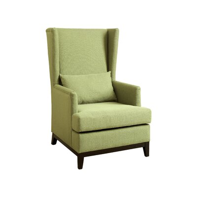 Amory Wingback Arm Chair Upholstery: Green