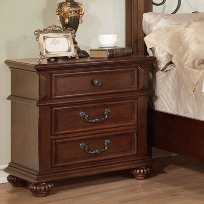 Lorrenzia 3 Drawer Bachelors Nightstand