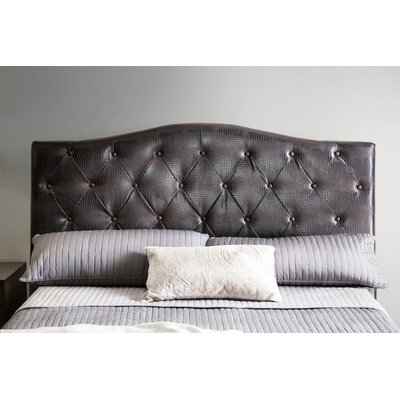 Mariella Upholstered Panel Headboard Size: Full/Queen, Upholstery: Brown