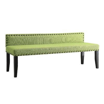 Angeline Upholstered Bedroom Bench Size: Large, Upholstery Color: Green