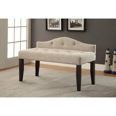 Lillia Upholstered Bedroom Bench Upholstery Color: Ivory, Size: Small