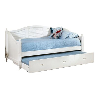 Sherylle Daybed with Trundle Color: White