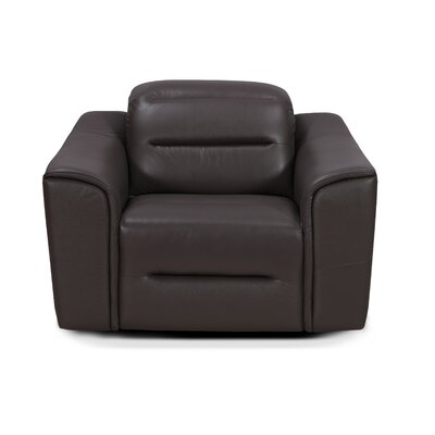 Leamon Leather Club Chair