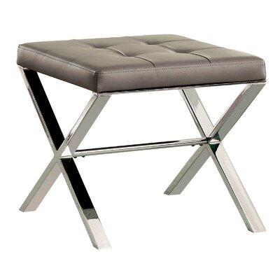 Vielle X-Braced Ottoman Upholstery: Gray