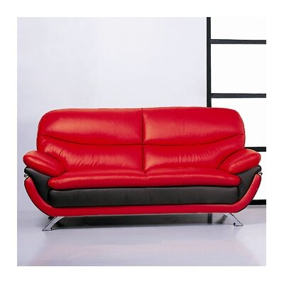 Jonus R/B Sofa Set BVF1247 Hokku Designs Jonus Leather Sofa