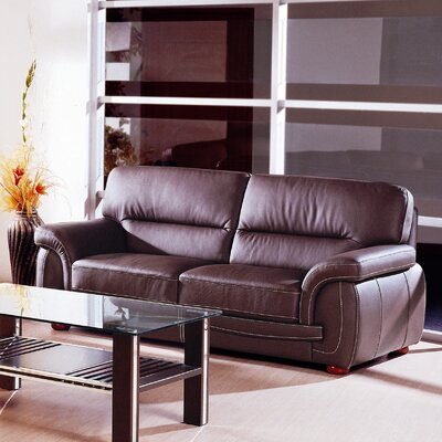 Sienna BL Sofa / Sienna BR Sofa Set BVF1292 Hokku Designs Sienna Leather Sofa