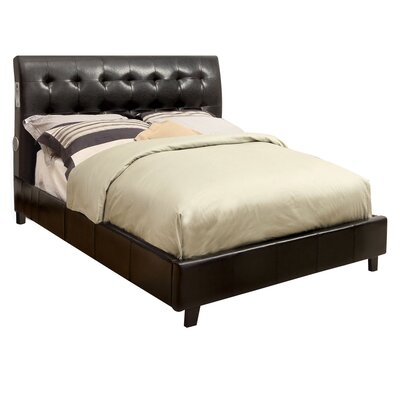 Dreamuse Upholstered Platform Bed Size: Twin, Upholstery: Espresso